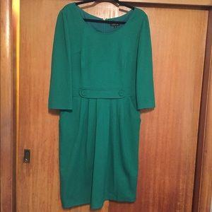 Tahari Kelly green Fitted Dress